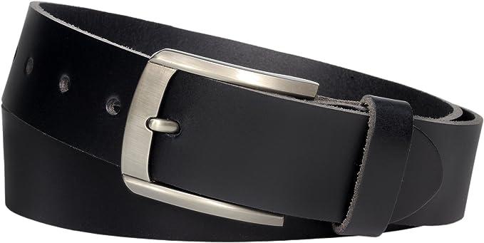3 cm schwarzer echt Ledergürtel Vollledergürtel Gürtel Jeansgürtel Belt Vascavi
