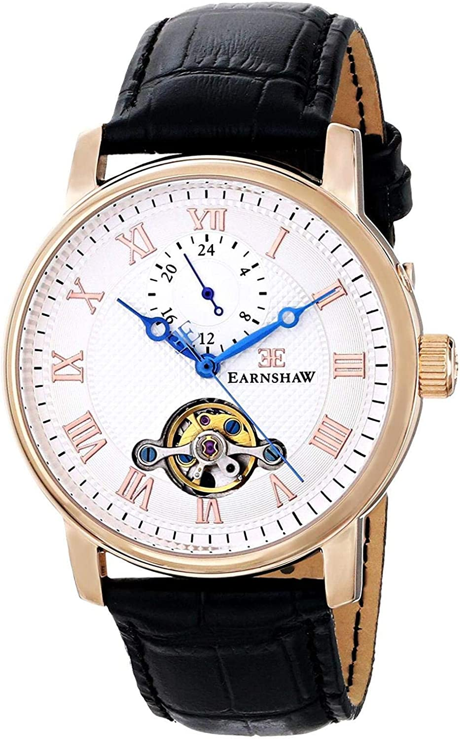 Thomas Earnshaw Men s ES-8042-03 Westminster Stainless Steel Watch with Black Band