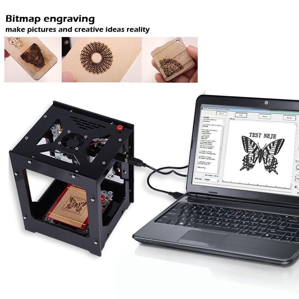 talla de mapa de bits 405 nm M/áquina grabadora l/áser Impresora 550 550 p/íxeles Alta resoluci/ón para PC Pad Tel/éfono puede tallar madera dura Cuero de bamb/ú Grabador l/áser