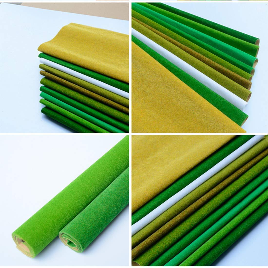 Amazon.com: WOLFBUSH Model Grass Mat, 4Pcs Artificial Turf ...