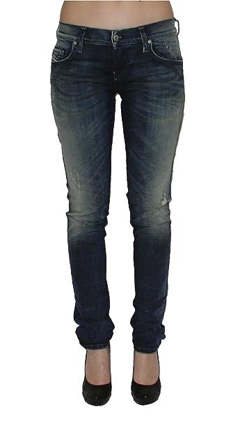 951d057b Diesel Womens Stretch Jeans Grupee 0838T Superslim Skinny Blue (32/30)
