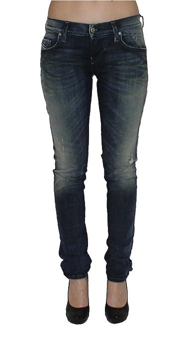 Diesel Damen Stretch Jeans Grupee 0838T Superslim Skinny blau