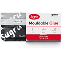 Sugru Mouldable Glue - Original Formula - Black, White & Grey (3-Pack)