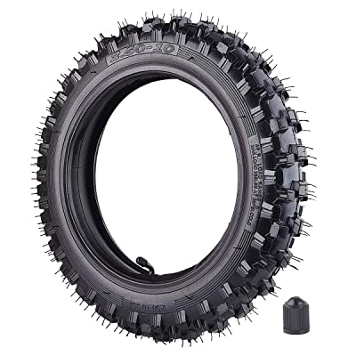 """2.50x10"""" Knobby Tyre 2.5-10 Front or Rear Tire with TR87 Inner Tube for Off Road Motorcycle Motocross Mini Dirt Bike XR50 CRF50 PW50 SDG107 KTM 50SX Morini Razor SX500: Automotive"""