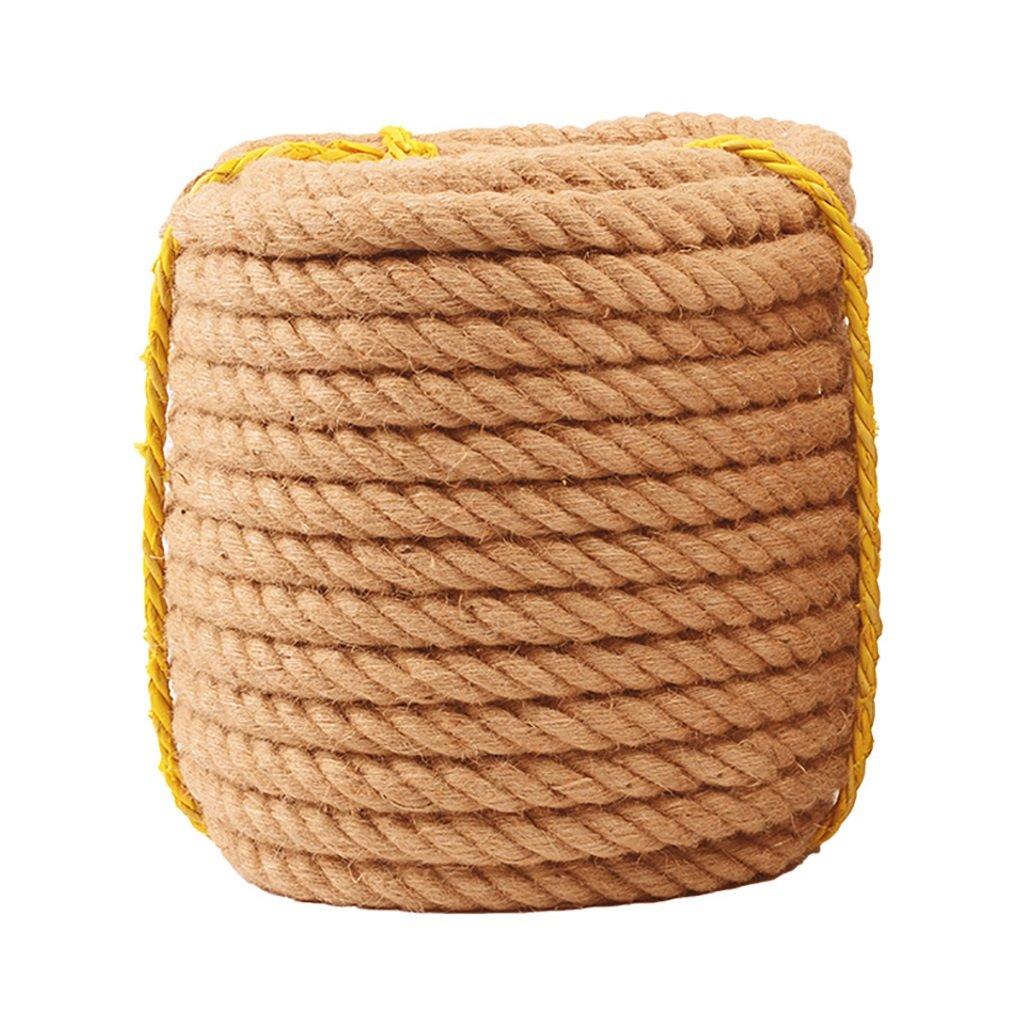 ロープ(張り綱) ビンテージツイン、直径10mm、12mm、14mm、16mm、手織りの装飾diy麻ロープ10m、20m、30m、50m、80mレトロ耐摩耗バインディングロープ (色 : Diameter-12mm, サイズ さいず : 30m) 30m Diameter-12mm B07JVPCHMS