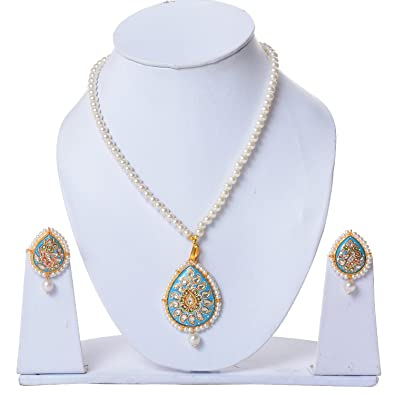 Buy jewelina Gems Thanjavur Handpainted Exclusive Necklace Set For