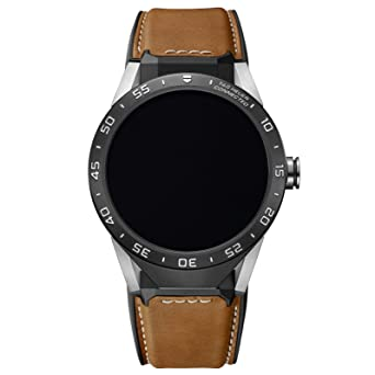 Tag Heuer Connected SAR8A80 FT6070 Montre Intelligente Pour Homme en Cuir de Veau Marron