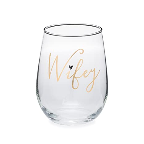wifey wine glass 17 oz stemless wife wine glass perfect bridal shower gift