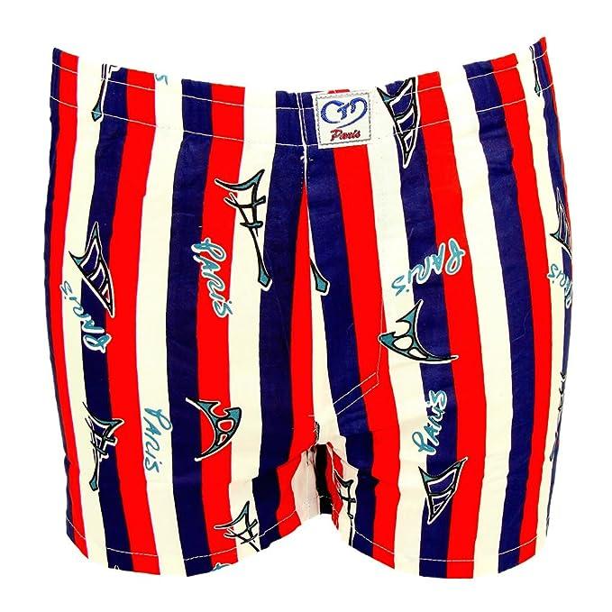 Souvenirs of Paris Pantalón Corto - Estampado - para Hombre Multicolor Tricolor Small