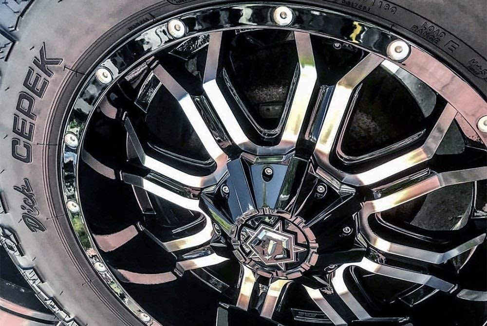 18x9 Black Machined TIS 535MB Wheels 6x135 /& 6x139.7-12 Offset
