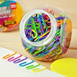 Colored Small Paper Clips Vinyl Coated, Coideal 200 Pack 28mm Assorted Color Mini Paperclips Holder Colorful for School, Offi