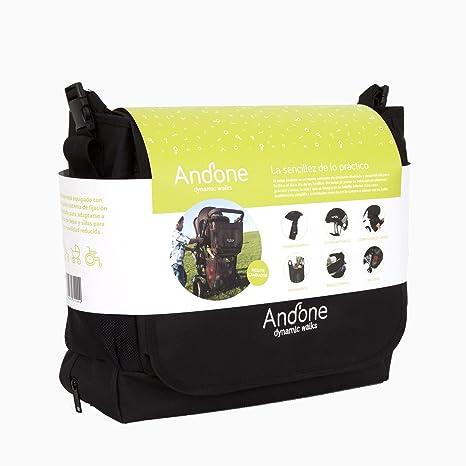 Andone - Dynamic Walks, Bolso 2 en 1 para Cochecitos y Sillitas de Bebé, con Cesta Desplegable en su Bolsillo inferior, Color Negro | Bolso para Silla ...