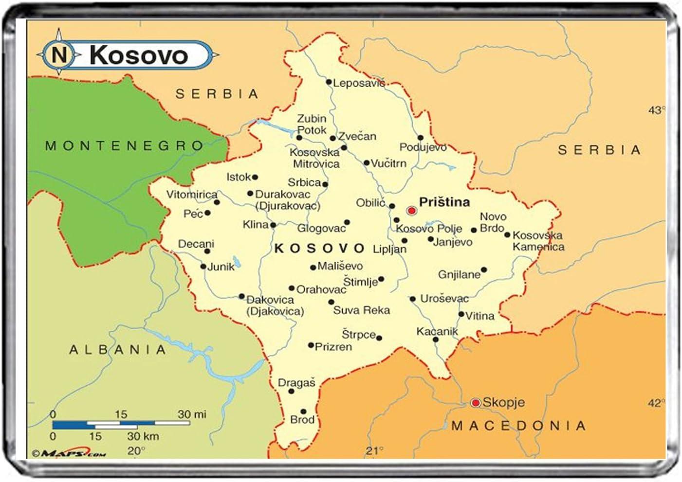 M107 MAP of Kosovo Fridge Magnet Kosovo Travel Refrigerator Magnet