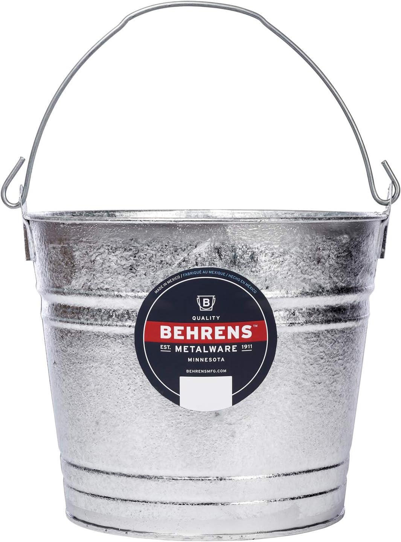Behrens 1212 Hot-Dipped Galvanized Steel Utility Pail, 12-Quart