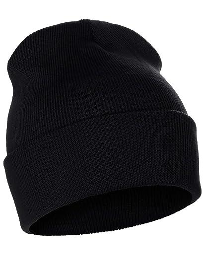 010b5e37d52681 I&W Hatgear Classic Pain Cuffed Beanie Winter Knit Hat Skully Cap, Black