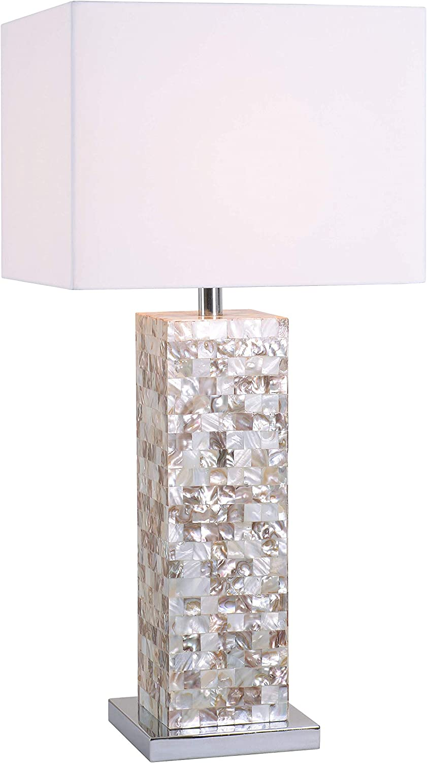 Kenroy Home 32025MOP Table Lamp, Mother of Pearl Finish