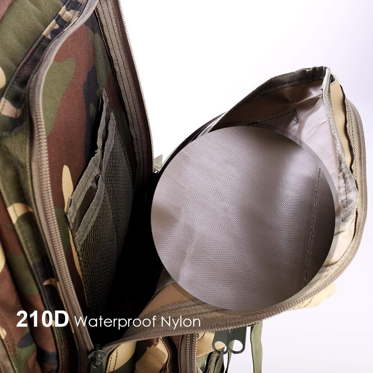 Noir Sac /À Dos Tactique 35L Arm/ée Sac /À Dos Molle Assaut Pack Tactique Combat Sac /À Dos pour Randonn/ée en Plein Air Camping Randonn/ée P/êche Chasse SHANNA Militaire Sac /À Dos