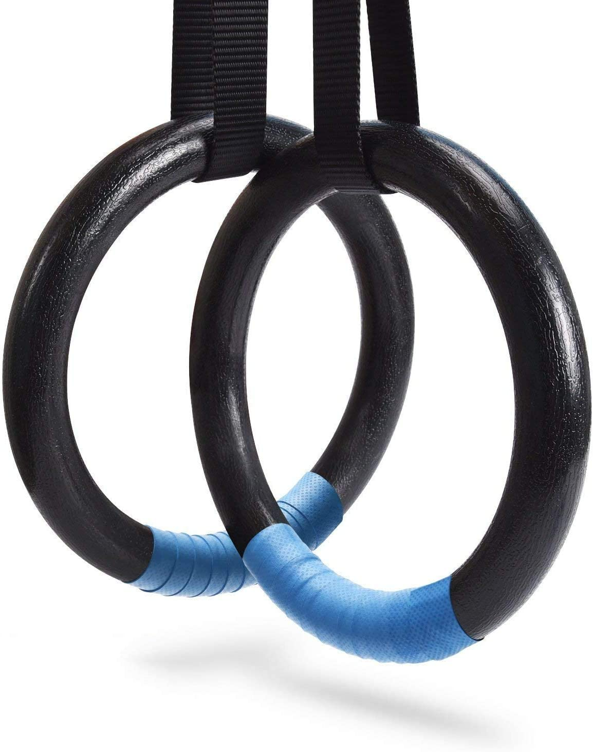 PACEARTH Anillos de gimnasia de 499 kg de capacidad con correas de hebilla ajustables de 4,5 m, anillos antideslizantes para gimnasio en casa, ...