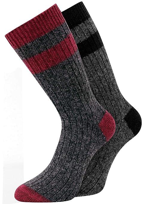 kb-Socken - 4 pares de calcetines de lana de oveja, gruesos, cálidos y blandos, hasta talla 50: Amazon.es: Ropa y accesorios