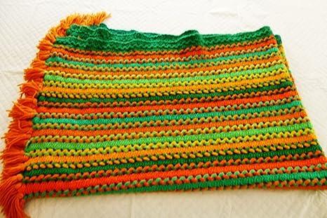 Amazon.com: Hecho a mano Afgano Crochet País colores gran ...