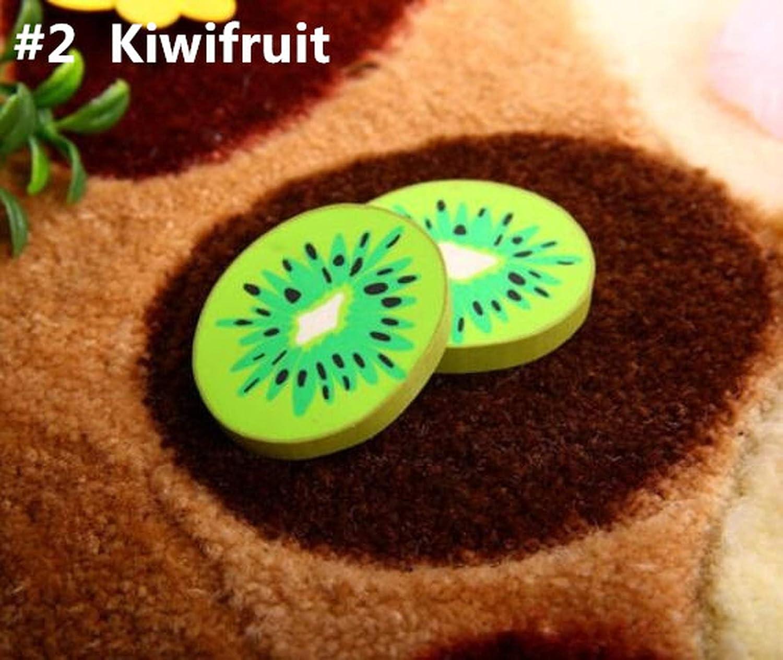 1pcs/pack lindo diseño de frutas frescas gomas de borrar Kawaii sandía naranja Kiwifruit gomas de borrar regalo premio oficina escuela suministros, color NO2 Kiwi Fruit talla única: Amazon.es: Oficina y papelería