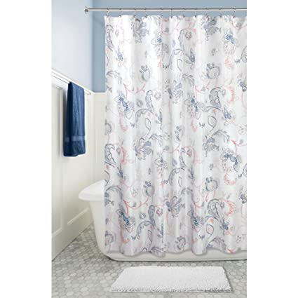 Amazon InterDesign Shelby Fabric Shower Curtain 72 X