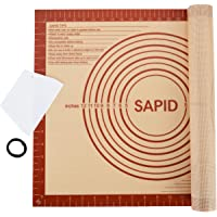 Sapid Extra Thick Silicone Baking Mat Non-stick for Non-slip Silicone Pastry Mat with Measurements, Dough Rolling Large, Pie Crust, Cookies, Kneading Mat, Countertop, Placement Mats (16 x 20, Red)