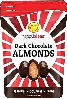 diabetes de almendras cubiertas de chocolate negro