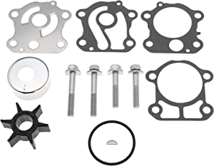 6H3-W0078-02 Water Pump Impeller Repair Kit for Yamaha 50 60 70 HP Outboard 1997-UP Replace for Sierra 18-3465 6H3-W0078-02-00 6H3-W0078-00