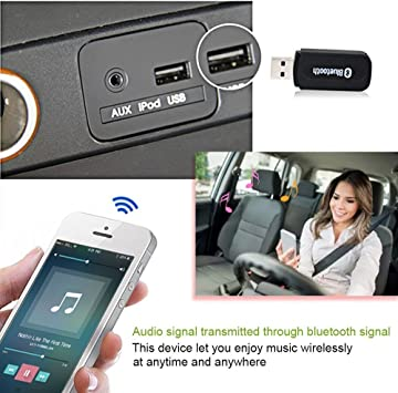 H Bluetooth Empf/änger f/ür Auto Stereo mit 3,5 mm Kabel LY-NEW /… Auto Bluetooth Adapter f/ür Home Stereo Wireless Music Adapter f/ür tragbare speskers, AUX IN