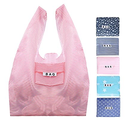 10 X Strawberry Shopping Bag Foldable Reusable Eco Friendly Handy Fashion Decor