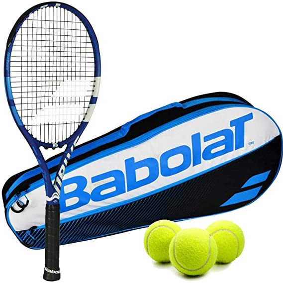 Amazon.com : Babolat Drive Game (Drive G) Tennis Racquet Kit Bundled with a Babolat Club Tennis Bag and 1 Can of 3 Tennis Balls : Sports & Outdoors