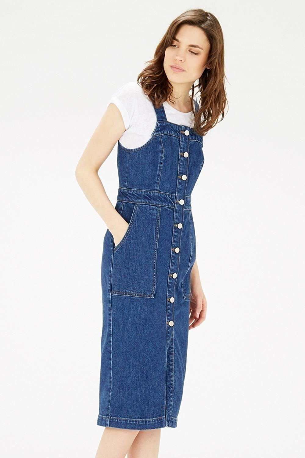 4b1e948b0334 Womens Denim Pinafore Dress Uk - raveitsafe