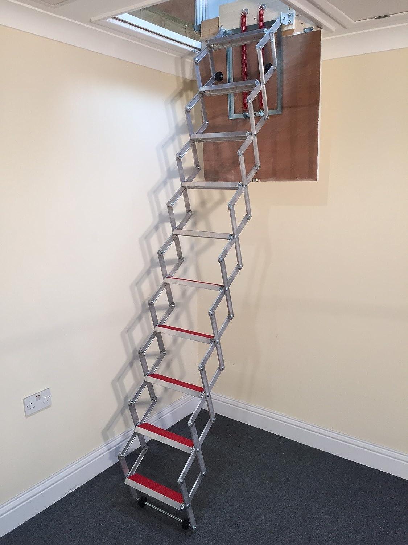 unique 274m 9u0027 concertina loft ladder superb compact design