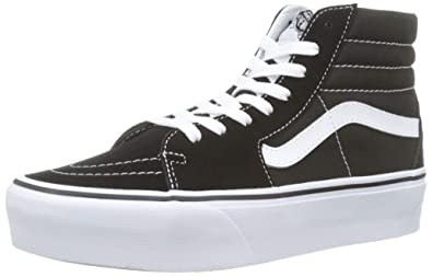 f571d465747cd6 Vans Mens SK8 HI Platform 2.0 Black True White Size 4