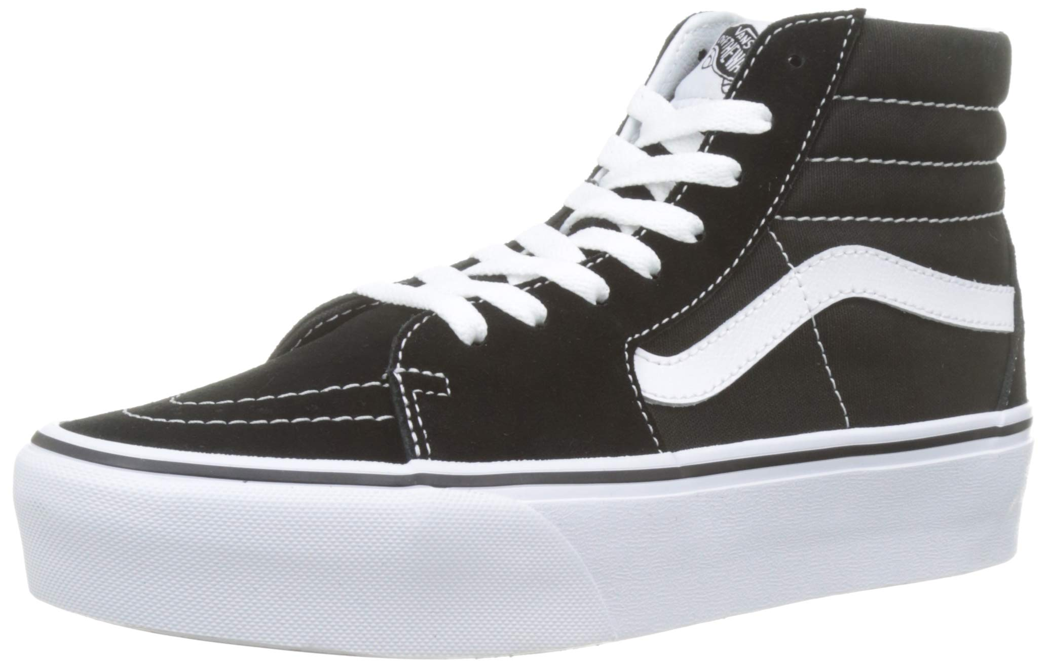 Vans Mens SK8 HI Platform 2.0 Black True White Size 4
