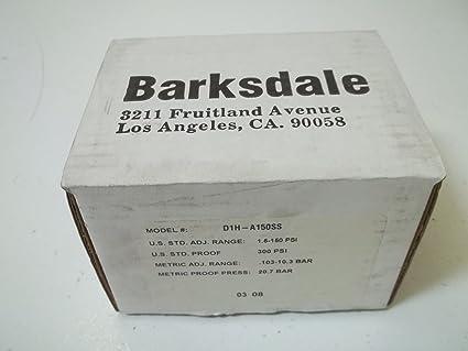 Amazon.com: Barksdale d1h-a150ss alojada Interruptor de ...