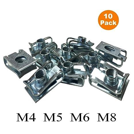 Auto Parts and Vehicles 10 Packs M6 Plastic Panel Trim Screws Bumper Clips Fairing Screw Rivets