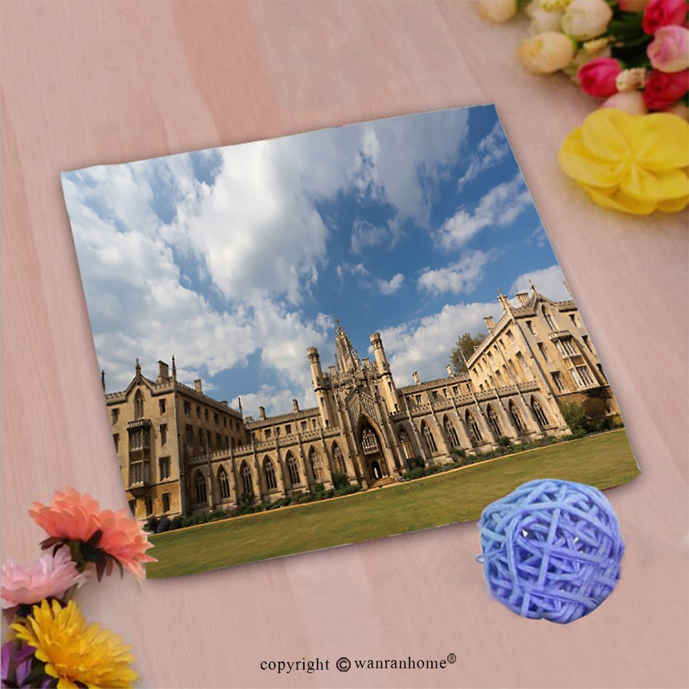 VROSELV Custom Cotton Microfiber Ultra Soft Hand Towel-The New Court st John s College at Cambridge University Cambridge UK Custom Pattern of Household Products(20''x20'')