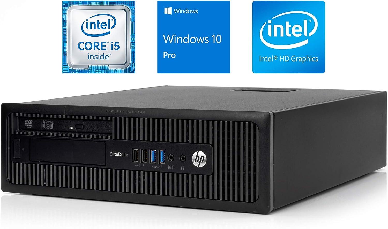 HP EliteDesk 800 G1 Business Desktop, Intel Core i5 4570 3.2Ghz, 16GB DDR3 RAM, 512GB SSD Hard Drive, USB 3.0, DVDRW, Windows 10 Pro (Renewed)