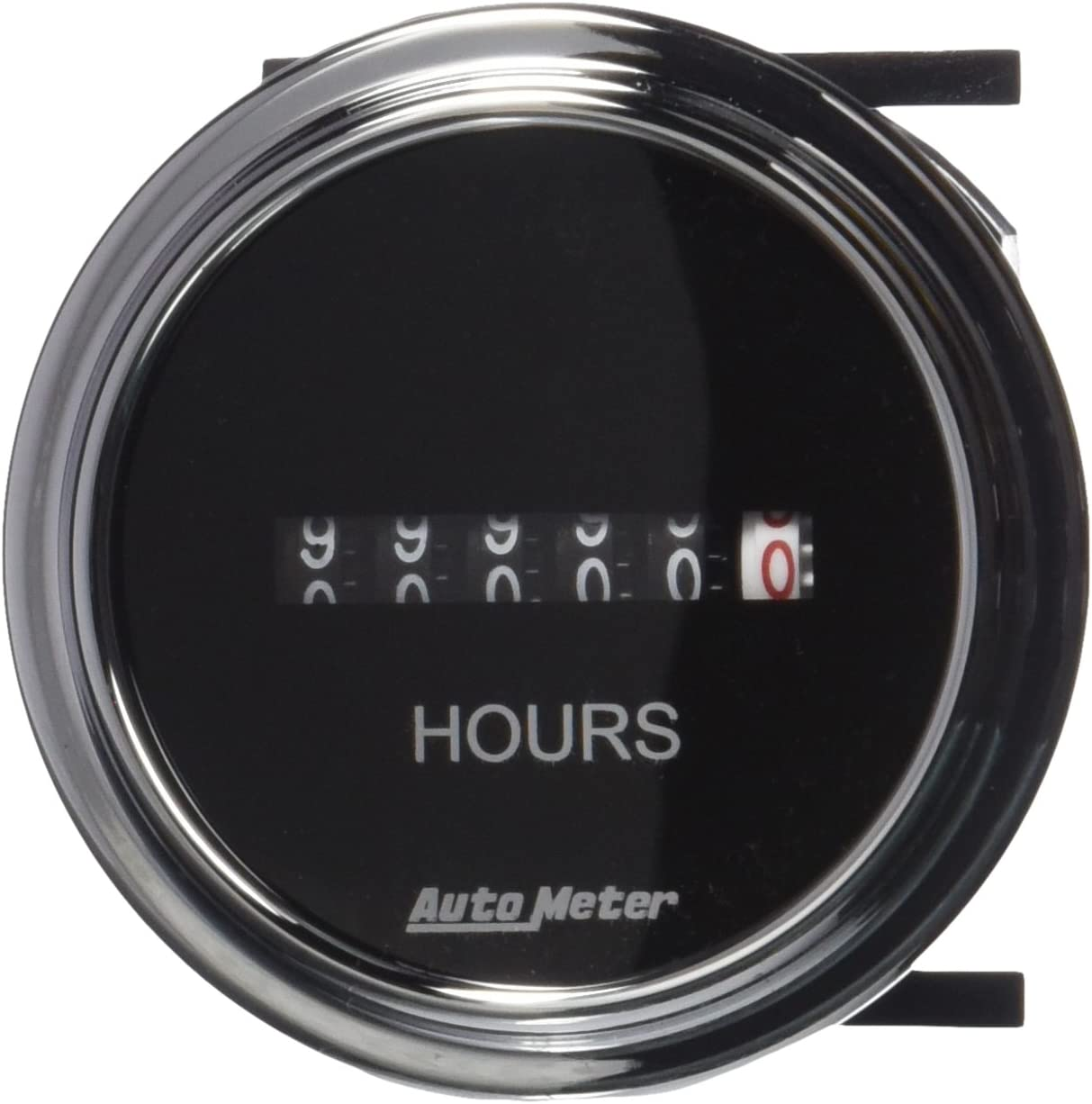 AUTO METER 2587 Traditional Chrome Electric Hour Meter Gauge