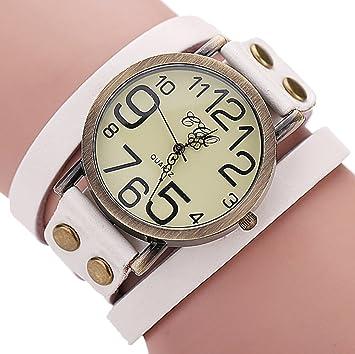 910f579300d Fashion Vintage Cow leather Bracelet Watches Women Wristwatch Quartz Watch Relogio  Feminino 2016 Hot Selling (White)  Amazon.co.uk  Baby