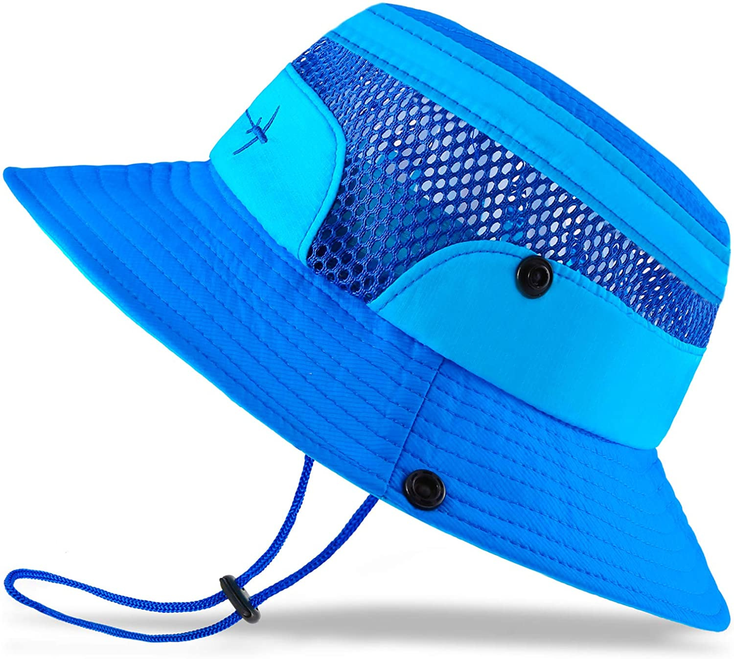 Baby Sun Hat Toddler Sun Hat Kids Breathable Bucket Sun Protection Hat | Adjustable, Stay-on Chin-Strap, Summer Play
