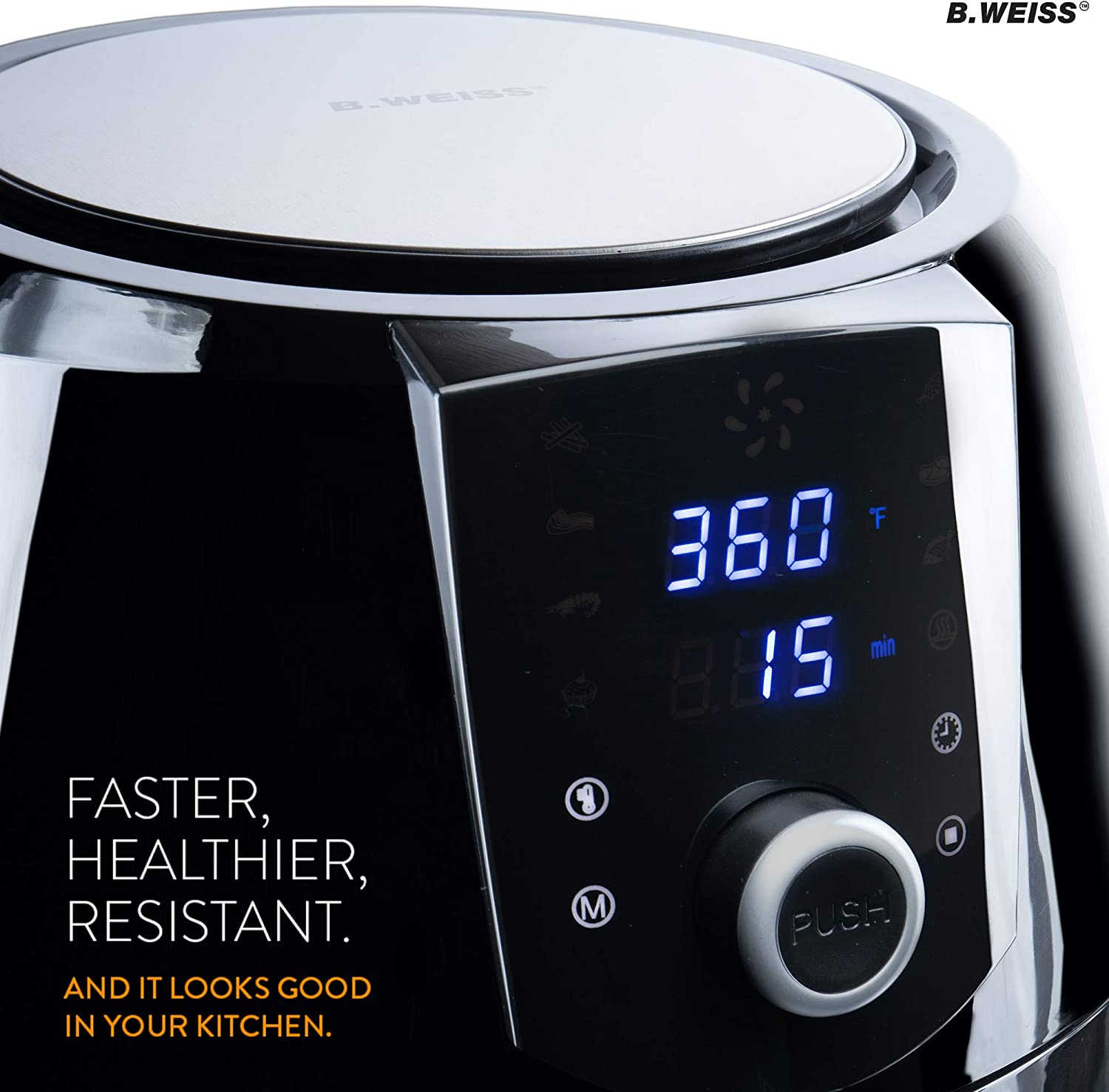 (B. WEISS) Family Size Huge capacity,With Airfryer