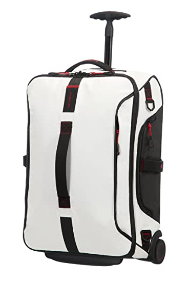 Amazon.com | Samsonite Paradiver Light Duffle with wheels 55/20 Strictcabine, 55 cm, 48, 5 L, White | Suitcases