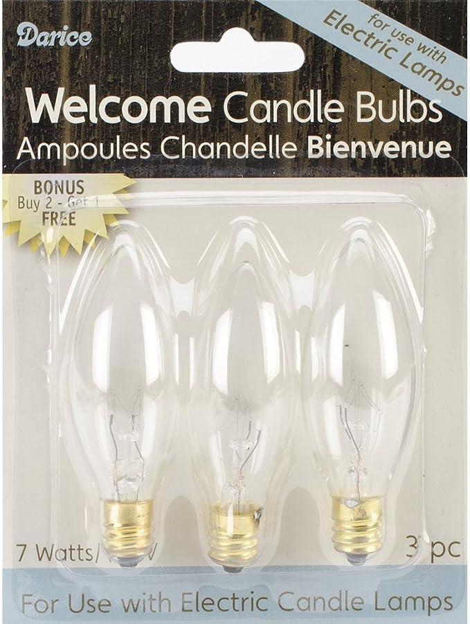 Darice Welcome Candle Bulbs 7 Watts