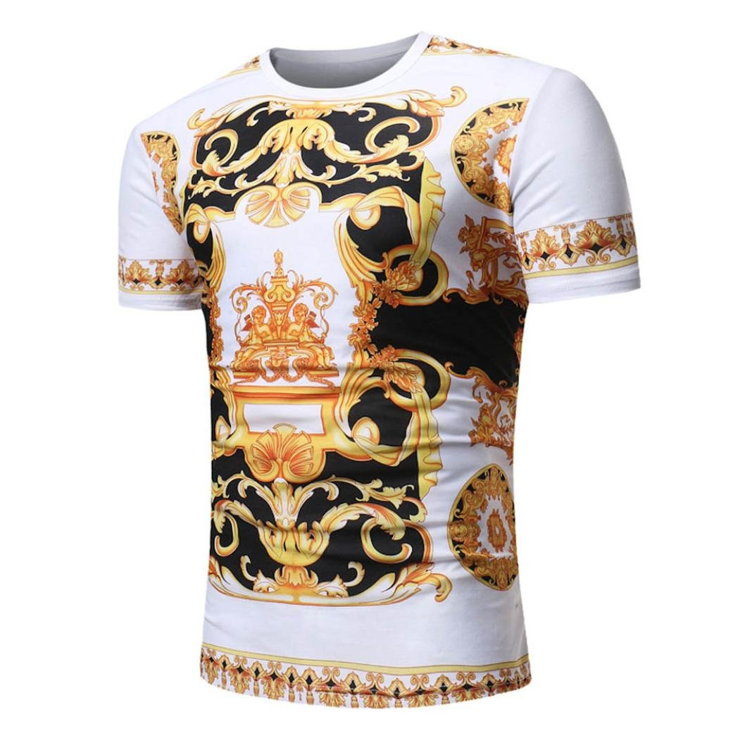 Amazon.com: kaifongfu Men Shirt, African Print O Neck Pullover Top for Men Short Sleeve T-Shirt Top Blouse: Clothing
