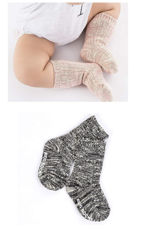 Baby Boys Girls Warm Winter Non-Skid Socks Stockings Kids 4Pack