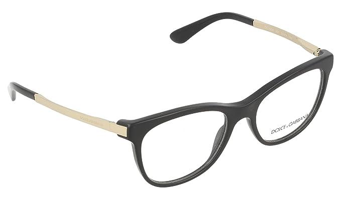 0412eedb6a DOLCE   GABBANA DG 3234 Eyeglasses 501 Black 52-17-140  Amazon.co.uk ...