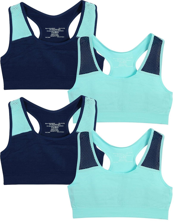 81b7b2b3f5 Unpadded Sports Bra for Girls Seamless Bra and Tagless for Comfort Criss  Cross Racerback for Support